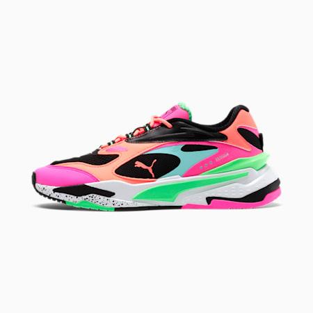 RS-Fast Women's Sneakers, Puma White-Green-Peach, small