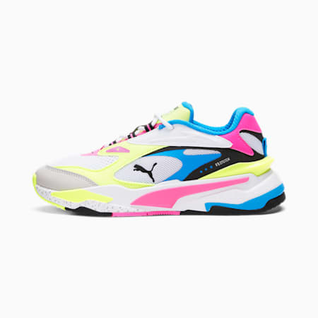 RS-Fast Sneakers JR, Puma White- Pink-Yellow, small