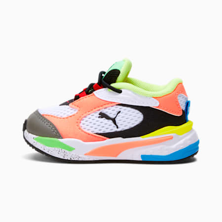 RS-Fast Toddler Shoes, Puma White-Peach-Blue, small