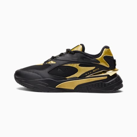 RS-Fast Metal Sneakers JR, Puma Black-Puma Team Gold, small