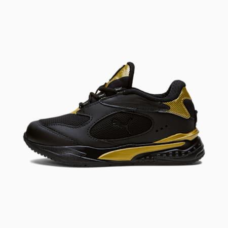 RS-Fast Metal Little Kids' Shoes, Puma Black-Puma Team Gold, small