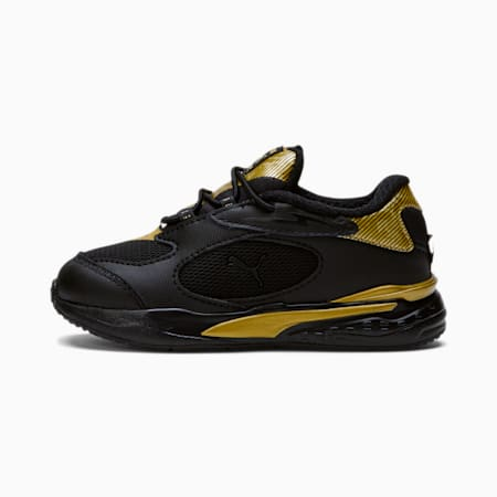 RS-Fast Metal Toddler Shoes, Puma Black-Puma Team Gold, small