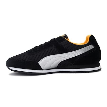 Pixer Racer IDP Men's Shoes, Puma Black-Saffron-Silver, small-IND