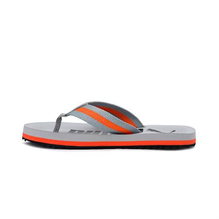 Mellow Men's Flip Flops, Quarry-Vibrant Orange-Puma Black, small-IND