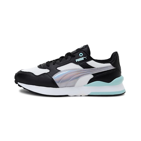 R78 FUTURE Iridescent Women's Shoes, Puma Black-Blue Glow, small-IND