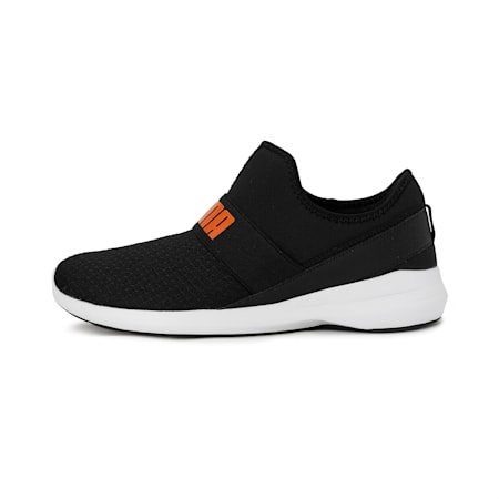 Pace Slip On MU IDP Men's Sneakers, Puma Black-Vibrant Orange, small-IND
