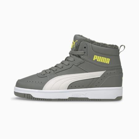 Młodzieżowe buty sportowe Rebound Joy Fur, CASTLEROCK-Nimbus Cloud-Nrgy Yellow-Puma White, small