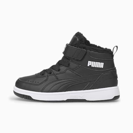 Baskets Rebound Joy Fur enfant, Puma Black-Puma White, small