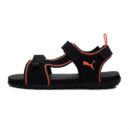 Everlast IDP Men's Sandals, Puma Black-Vibrant Orange, small-IND