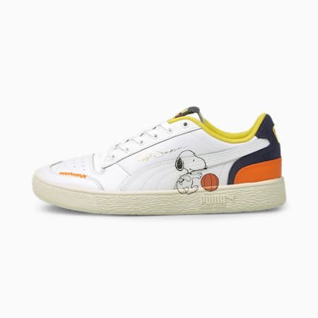 PUMA x PEANUTS Ralph Sampson Trainers, Puma White-Peacoat, small