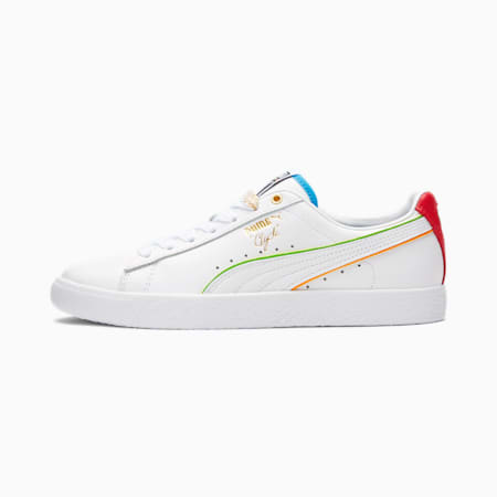 Clyde The Unity Collection Damen Sneaker, PWhite-High Risk Red-D Blue, small