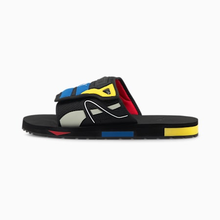 Mirage Mox Sandals, Puma Black-Poppy Red, small