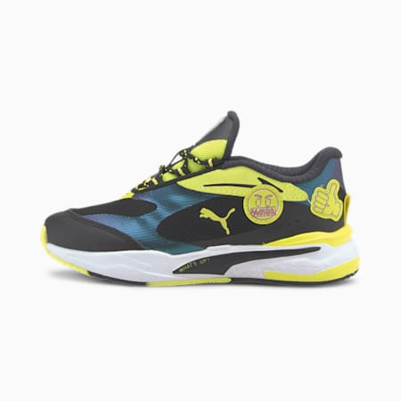 PUMA x emoji® RS-Fast Little Kids' Sneakers, Silver-Fluo Yellow-Black, small