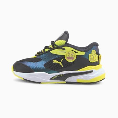 ZapatosPUMA x emoji® RS-Fastpara bebés, Silver-Fluo Yellow- Black, pequeño