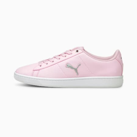 Vikky V2 Cat Youth Sneakers, Pink Lady-Puma Silver- White, small-IND