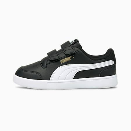 Shuffle Kids' Trainers, Puma Black-Puma White-Puma Team Gold, small-GBR