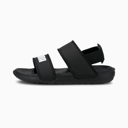 Soft Kids' Sandals, Puma Black-Puma White, small