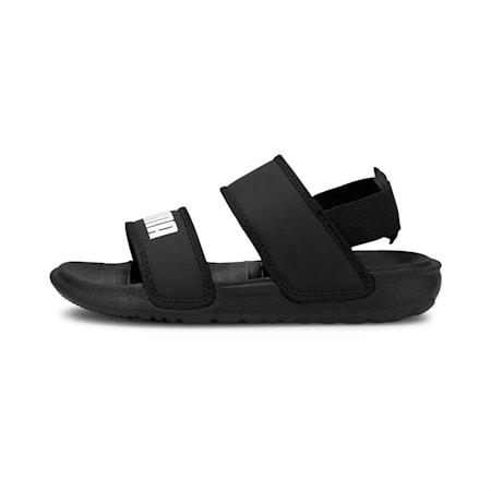 Soft Kids' Sandals, Puma Black-Puma White, small-GBR