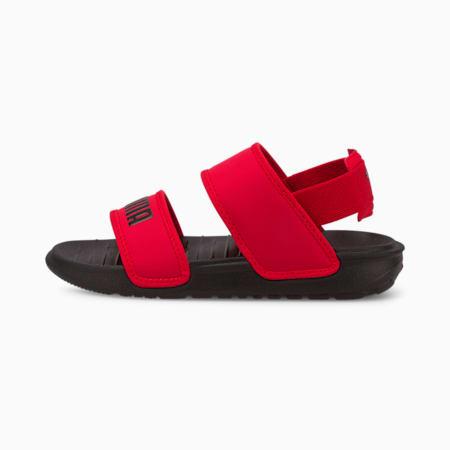 Sandalias delicadas para niños pequeños, High Risk Red-Puma Black, pequeño