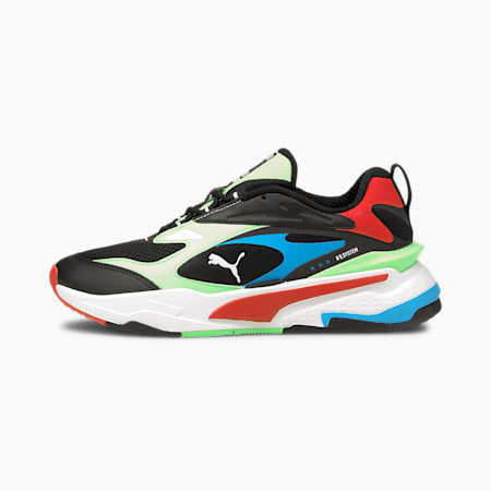 RS-Fast Youth Trainers, PumaBlack-ElektroGreen-Red, small
