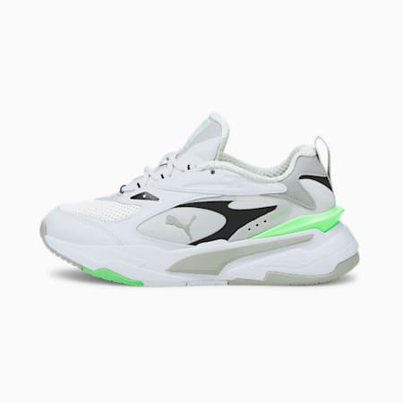 RS-Fast Youth Trainers, Puma White-Gray Violet-Elektro Green, small