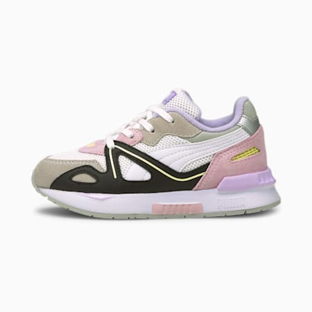 Mirage Mox Vision Kids' Trainers, Puma White-Pink Lady, small