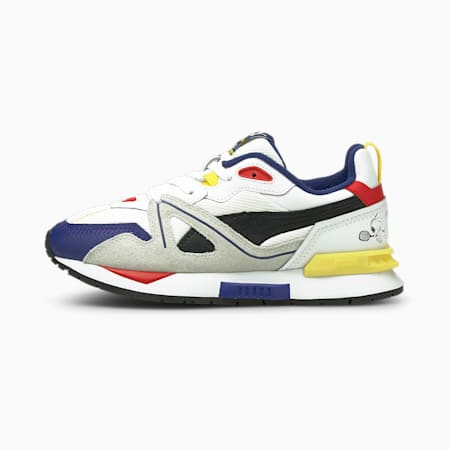 PUMA x PEANUTS Mirage Mox Youth Trainers, Puma White-Elektro Blue, small