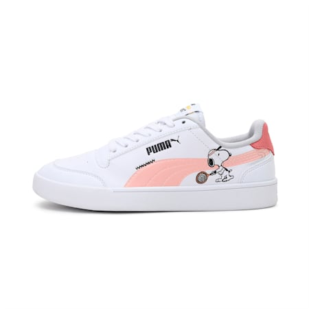 PUMA x PEANUTS Shuffle Youth Shoes, White-Apricot-SCoral-Black, small-IND