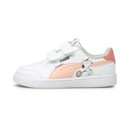 PUMA x PEANUTS Shuffle Kids' Shoes, White-Apricot-SCoral-Black, small-IND