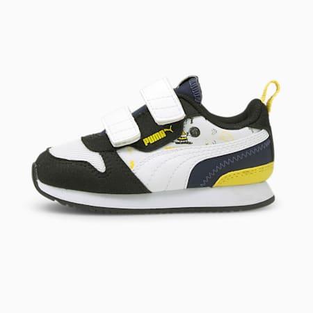 Zapatos PUMA x PEANUTS R78 para bebés, Negro-Puma White-Peacoat, pequeño
