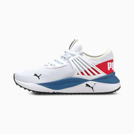 Zapatos deportivosPacer FutureJR, Puma White-High Risk Red, pequeño