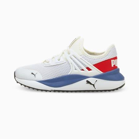 Zapatos deportivos Pacer Future para niño pequeño, Puma White-High Risk Red, pequeño