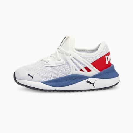 Zapatos Pacer Futurepara bebé, Puma White-High Risk Red, pequeño