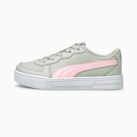 ZapatosPUMA Skye para niños, Gray Violet-Pink Lady-Plateado, pequeño