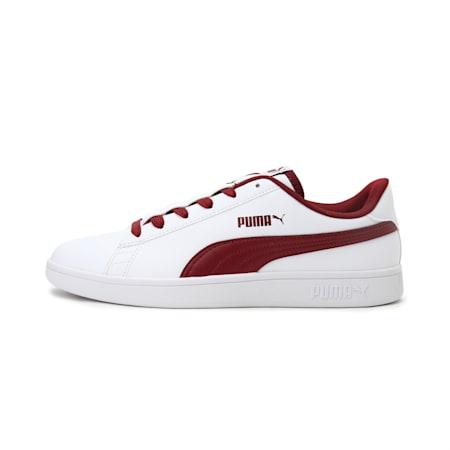 PUMA Smash V2 Loop IDP Unisex Shoes, Puma White-Cordovan, small-IND