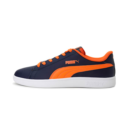 PUMA Smash V2 Loop IDP Unisex Shoes, Peacoat-Vibrant Orange, small-IND
