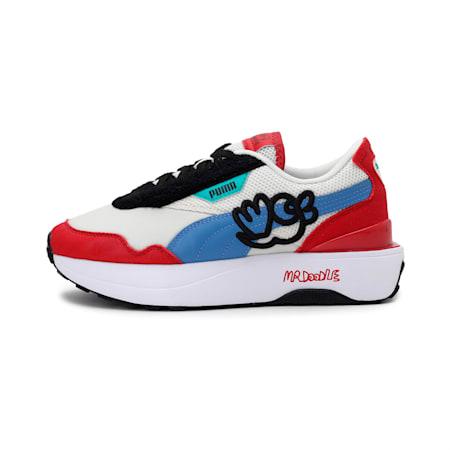 PUMA x MR DOODLE Cruise Rider Women's Shoes, Eggnog-Ultramarine, small-IND