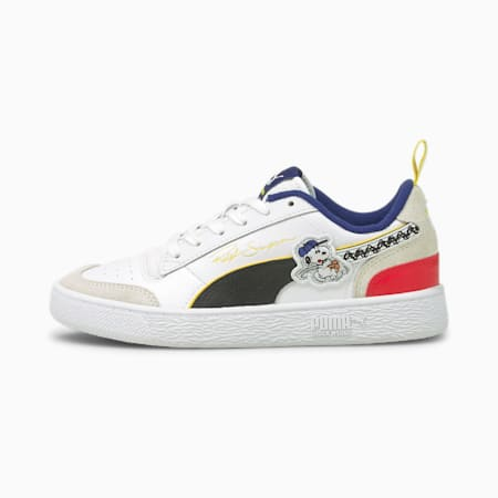 PUMA x PEANUTS Ralph Sampson Youth Trainers, Puma White-Puma Black, small
