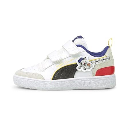 PUMA x PEANUTS Ralph Sampson V Kinder Sneaker, Puma White-Puma Black, small