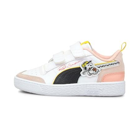 PUMA x PEANUTS Ralph Sampson V sneakers kinderen, Puma White-Puma Black-1, small