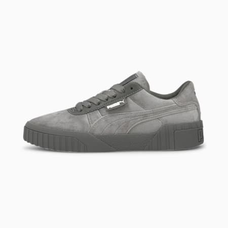 Zapatillas Cali Velour para mujer, Ultra Gray-Puma Team Gold, small