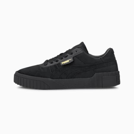 Cali Velour Women's Trainers, Puma Black-Puma Team Gold, small