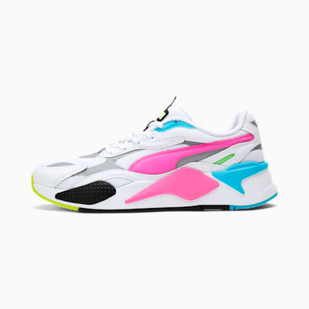 RS-X³ WP Men's Sneakers, White-Lu.Pink-Elektro Green, small