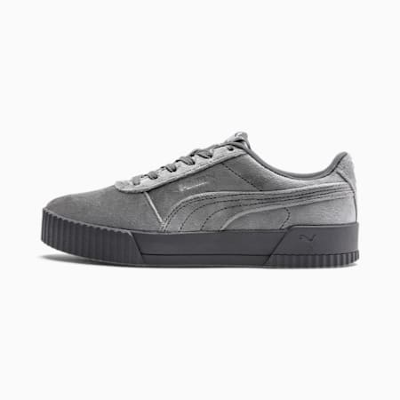 Carina Velvet Damen Sneaker, CASTLEROCK-Metallic Silver, small