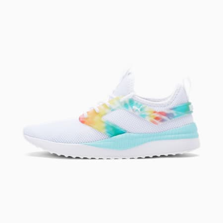 Pacer Next Excel Tie Dye Women's Training Shoes, Puma White-Gulf Stream, small