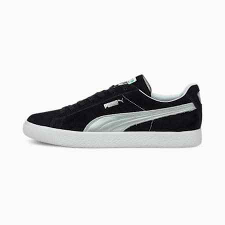 Suede Vintage Made in Japan Men's Sneakers, Puma Black-Puma Silver, small