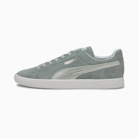 Suede Vintage Made in Japan Men's Sneakers, Quarry-Puma Silver, small