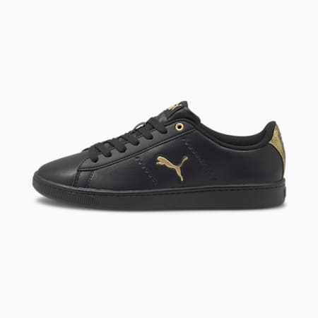 Vikky v2 Cat Metallic Women's Sneakers, Puma Black- Gold-White, small-IND