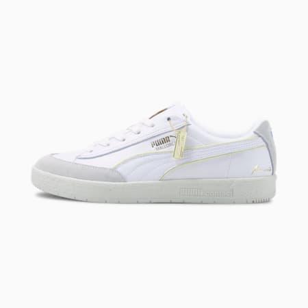Rudolf Dassler Legacy Mallorca Sneaker, Puma Wht-Yellow Pear-V Gray, small