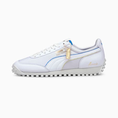 Fast Rider Rudolf Dassler Legacy Formstrip Trainers, Puma White-Vaporous Gray, small